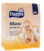 Happis Подгузники Мини 4-6 кг 64 шт