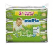 Molfix Влажные детские салфетки, с лосьоном, 3x63 шт