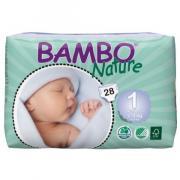 BAMBO Nature/ Детские эко-подгузники для новорожденных 2-4 кг, 28 шт.