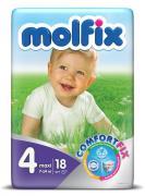 Molfix Подгузники Comfort Fix Макси 7-14 кг 18 шт