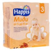 Happis Подгузники Миди 5-9 кг 16 шт