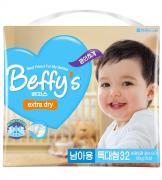 Подгузники Beffys Extra Dry XL более 13кг 32шт для мальчиков