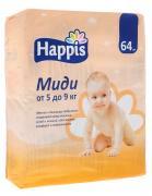 Happis Подгузники Миди 5-9 кг 64 шт