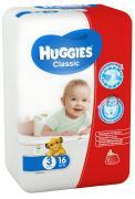 Huggies Подгузники Classic 4-9 кг (размер 3) 16 шт