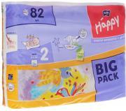 Bella Подгузники для детей Baby Happy размер Mini 2 3-6 кг 82 шт