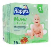 Happis Подгузники Мини 4-6 кг 16 шт