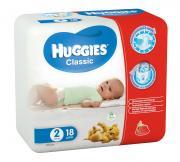 Huggies Подгузники Classic 3-6 кг (размер 2) 18 шт