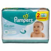 Салфетки Pampers Baby Fresh 2x64 з/блок (6)