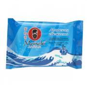 Салфетки влажные MANEKI Kaiteki с антибактериальным эффектом Морская...
