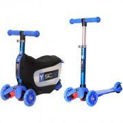 Самокат Y-SCOO Mini Jump&Go 3 в 1 со светящимися колесами