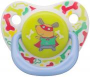 Happy Baby Соска-пустышка силиконовая с колпачком Собачка от 12 до 24...