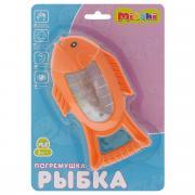 """Развивающая игрушка-погремушка Mioshi """"Рыбка"""", цвет: оранжевый"""