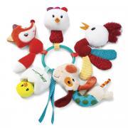 Lilliputiens Кольцо-погремушка Ферма с мягкими игрушками