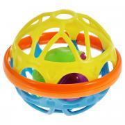 """Погремушка Mioshi """"Гибкий шар"""", цвет: желтый, голубой"""