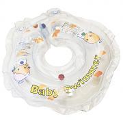 "Круг на шею ""Baby Swimmer"", с погремушкой, цвет: прозрачный, 3-12 кг"