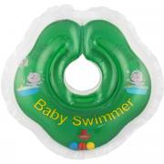 Baby Swimmer Круг на шею с погремушкой цвет зеленый 3-12 кг