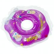 """Круг на шею """"Baby Swimmer"""", с погремушкой, цвет: фиолетовый, 3-12 кг"""
