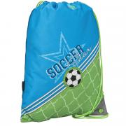 """Сумка для сменной обуви Erich Krause """"Soccer"""", цвет: голубой, зеленый"""