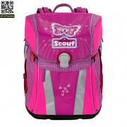 Ранец Scout Sunny BASIC с наполнением 4 предмета Scout Фиолетовая...