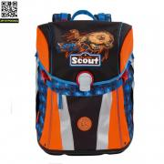 Ранец Scout Sunny BASIC с наполнением 4 предмета Scout Лев рейнджер