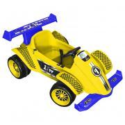 "Детский электромобиль 1toy ""Гонка"", цвет: желтый, синий"