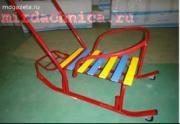 Санки детские Мишутка 1 с колесом МК-1(Умка, Тимка) синие, красные
