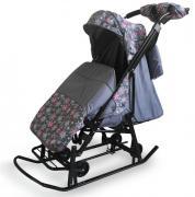 Санки Kristy Comfort Plus 3B Снежинки/Серый