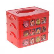 """Контейнер для мелочей Бытпласт """"Angry Birds"""", с ручкой, цвет: красный,..."""