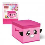 VAL PNK-04 Короб для хранения с крышкой, 30*40*25 см, цвет: розовый