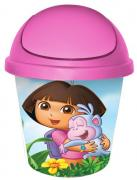 "Детская мусорная корзина круглая 7л. ""даша-путешественница"" pink"