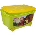 Ящик Пластишка 58х39х33.5см для игрушек на колесах 13794