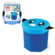 VAL BLU-10 Короб-пуфик для хранения, 30*30*30 см, цвет: синий