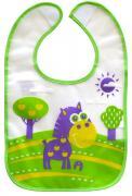 Lubby Нагрудник на липучке В мире животных цвет зеленый фиолетовый