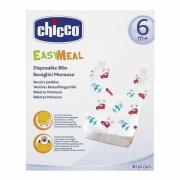 Нагрудники Chicco одноразовые, 40 шт, с карманом и липучками, 6 мес +