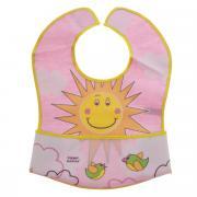 """Нагрудник """"Canpol Babies"""", с кармашком, цвет: розовый. 15/112"""