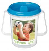 """Чашка детская """"Sistema"""", с носиком, цвет: голубой, 250 мл"""