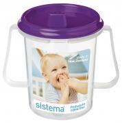 """Чашка детская """"Sistema"""", с носиком, цвет: фиолетовый , 250 мл"""