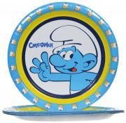 Смурфики Набор одноразовых тарелок цвет голубой 10 шт