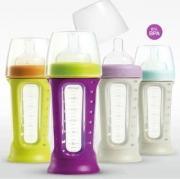 Уход и кормление Set of 3 silicone feeding bottles Bibos 210 ml....