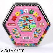 Мозаика круглая, 4-х цветов, 110 фишек, диаметр 13 мм, 135698