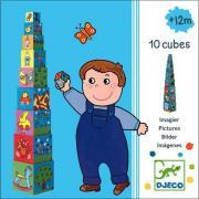 Кубики-пирамида Картинки 10 эл. Djeco 08500