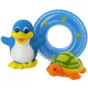 """Набор игрушек для ванной """"Веселое купание"""": пингвин, черепаха"""