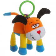 Bondibon Мягкая развивающая игрушка-растяжка Собака 15 см