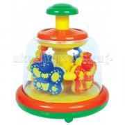 Развивающая игрушка Мир детства Юла Заводная карусель