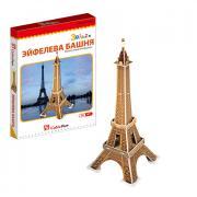 3D пазлы Cubic Fun S3006 Кубик фан Эйфелева башня (Франция) (мини...