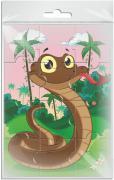 Издательская группа Квадра Пазл для малышей магнитный Змейка