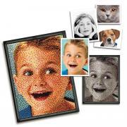 """Пиксельная мозаика серии Арт """"Любимое фото"""" из 14800 элементов."""