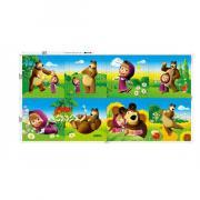 """Коврик-пазл """"Маша и Медведь"""", 8 сегментов, 63*126*1 см, 164797"""