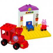 Конструктор Smoby Peppa Pig Поезд с остановкой