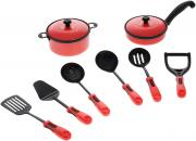 ABtoys Набор кухонный 10 предметов цвет красный